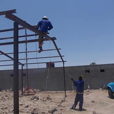 New construction of Okathitu Bike Shop Namibia
