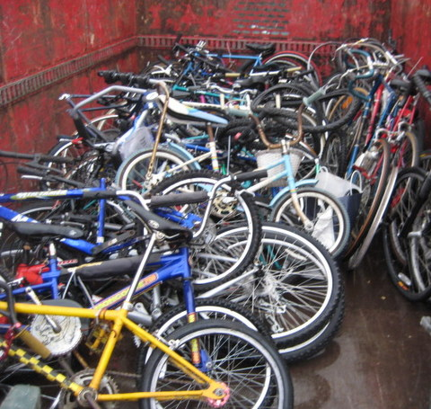 Thousands of Bikes Diverted From Waste Stream