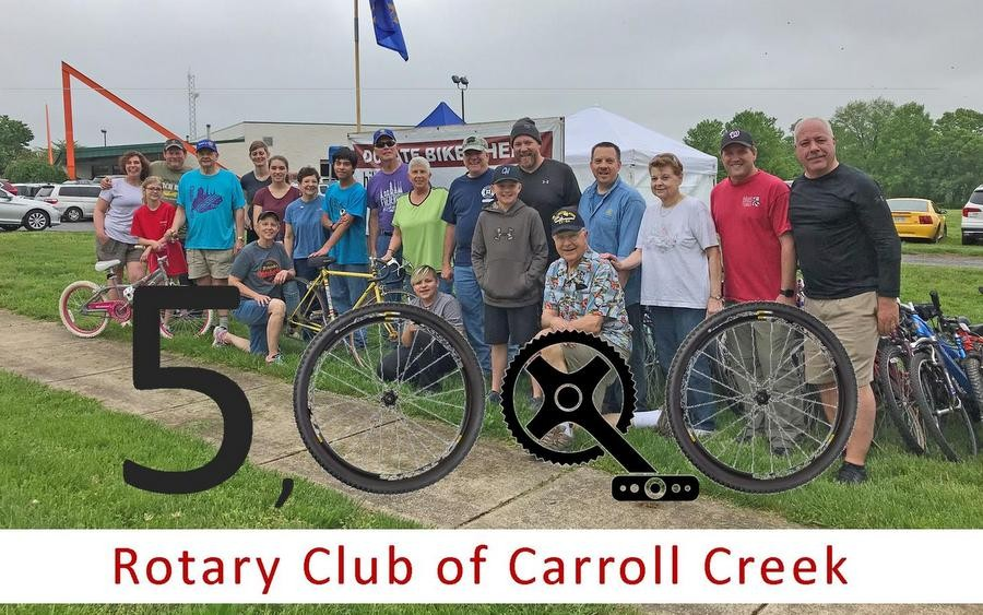 First Place in the 5k Race: Rotary Club of Carroll Creek