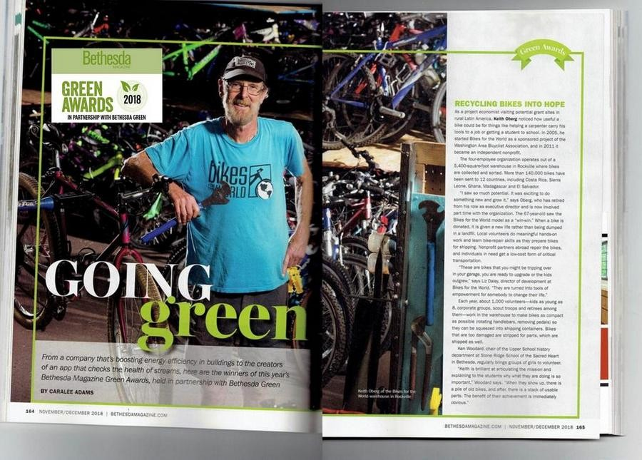 Keith Oberg Honored by Bethesda Green